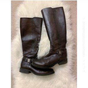 Vince Camuto Brown Farren Tall Riding Boots 7.5